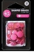Ki Memories Shaped Brads - Pink Flowers