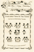 Cross-stitch Twins for Tea Towels Hot Iron Embroidery Transfers