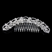 Stuffwholesale Rhinestone Crystal Hair Comb Silver Plated Party Jewellery Accessories