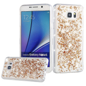 Galaxy Note 5 Case,UZZO Luxury Beauty Glitter Sparkle Stars Bling Flexible TPU Protective Silicone Cover Slim Soft Rubber Gel Scratch Resistant Bumper Case for Samsung Galaxy Note 5