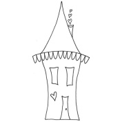 Joggles Cling Stamp, 4.4cm by 7.6cm , Wonky House No.2