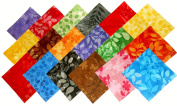 180cm - 13cm Paintbrush Tonals Fabric Squares Charm Pack- Designer Fabric-18 Colours-4 of each