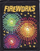 """FIREWORKS""-Iron On Embroidered Patch/Patriotic,Celebration, Military,Holiday"