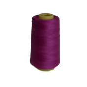 6000 Yards Hot Pink Sewing Thread All Purpose 100% Spun Polyester Spools Overlock Cone