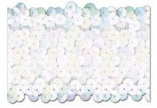 WHITE IRIS 5.1cm STRETCH SEQUIN-NEW!!!! LOW PRICE 10 Yards