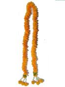 Thai Artificial Yellow Marigold Garland / Size : 1m