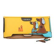 Bluelans® Women's Lovely Puppy Dogs Long Faux Leather Bifold Wallets Purse