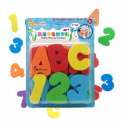 Finerolls Kids Bath Letter and Numbers Sticker EVA 36PCS Bathing Educational Toys Stickers Kid Children Bath Toy