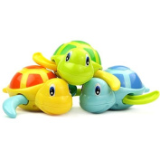 Tariq .  Infant Bath Toys Swimming little turtle Clockwork Dabbling toy cute Cartoon tortoise Wind Up Toys Baby's favourite
