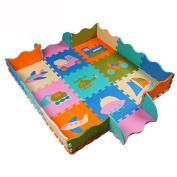 Tianmei Air and sea Adventure Kids Foam Playmats w/Fence Edges Soft Large EVA Foam Jigsaw Puzzle Mats - 0.3m Floor Tiles 90cm x 90cm