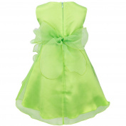 YIZYIF Baby Toddlers Girls Sleeveless Tutu Layered Flower Dress Birthday Party Baptism Dress Green 18-24 Months