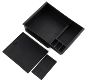 Black Inner Control Armrest Storage Secondary Glove Box Organised Container