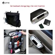 PME Car Backseat Storage Organiser Bag And Trash Bin ,Car Storage Combo Set