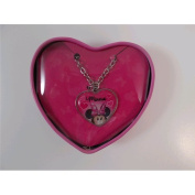 Joy Toy 71292 Minnie Pendant Necklace with a Heart in Shape Box
