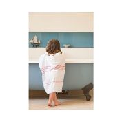 Hippychick Toddler Poncho Towel, White/Red