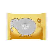 Biodegradable Toddler Wipes Waitrose 60 per pack