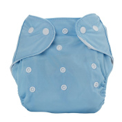 Baby Boys Girls Reusable Adjustable Cloth Cover Nappies Nappy Blue