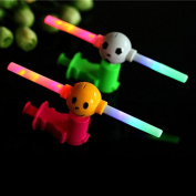 Enjoydeal 5PCS Glowing LED Music Hand Push Windmill.Flash Light Up Baby Cartton Toy