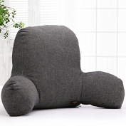 Kenmont Classic Reading Pillow Lumbar Support Cushion Back Support Pillows Bed Rest Lounger T-Shape Cotton Insert and Removable Cover for Sofa, Car, Office Chair, Home