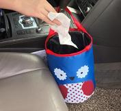 THE EASY RYDER Pop Up Trash Bin Kids Owl Design Trash Bin Car Storage or Rubbish Collection