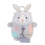Metoo Baby Anti-lost Toddler Safety Harnesses Cartoon Grey Bunny Backpack Baby Leashes Bag