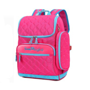 GudeHome Child Backpack Ultralight Safety Reflective Strips Waterproof Outdoor Travel School Bag Backpack with Stationery Bag Rose