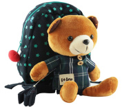 Cute Cartoon Girl /Boy Children Backpack kindergarten baby backpack schoolbag with removeble Plush bear safety harness/Tether Strap