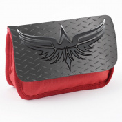 Tribal 10011, Eagle, Red School Kids Sublimation High Quality Polyester Pencil Case Pencil-box with Colourful Printed Design.21x12 cm.