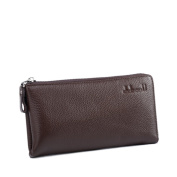 business casual/First layer leather clutch-A