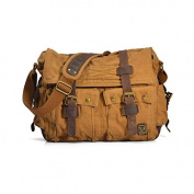 VRIKOO Vintage Military Canvas Crossbody Sports Casual Shoulder Bags Satchel School Messenger Bag