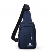 Mens chest bag/Casual male package/Messenger bag/Outdoor backpack/One-shoulder small bag-A