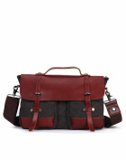 Fashion leisure single shoulder rucksack/Messenger bag/ portable spell in England leather business bags-A