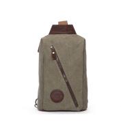 Mens chest bag/Canvas bag/Fashion shoulder bag/Messenger bag-A