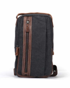 Casual fashion canvas bag/ versatile chest Pack/ one-shoulder small chest Pack/Backpack/Shoulder bag-B