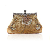 Elegant Retro Handmade Beaded Clutch Wallet Evening Wedding Handbag Shoulder Bag