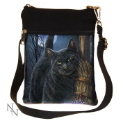 A Brush With Magick Cat By Lisa Parker Shoulder Bag