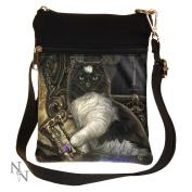 Time's Up Cat Shoulder Bag by Lisa parker