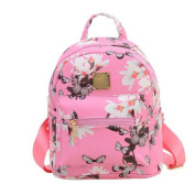Floral Printing Leather Bag,Tefamore Women Backpack Fashion Causal SchoolBag