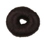 Fashion Bun Shapers Hair Doughnut Bun Ring Shaper Hair Donut Style Updo - Black