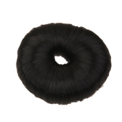 Fashion Bun Shapers Hair Doughnut Bun Ring Shaper Hair Donut Style Updo - Pure Black