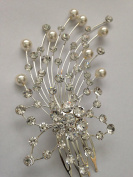 Crystal & Pearl Bridal Hair comb Jewellery