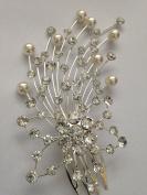 Crystal & Pearl Bridal Hair comb Jewellery