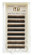 100% Siberian Real Mink Lashes Curl C - Eyelash Extensions (Set Of 5 Tray