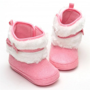 Velcro Female Baby Pink Khaki Warm Cotton Boots
