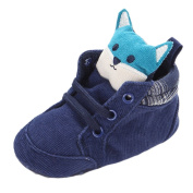 Baby Boys Lovely Dog Doll Corduroy Cotton Sneakers Blue