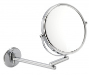 Fancy Metal Goods 10X Magnification Wall Mounted Extendable Mirror in Chrome