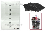 MYCRAS - Acrylic Makeup Organiser Holder - Clear Cosmetics Storage Box Solution With 7 Tier (6 Drawers) & FREE Removable Divider & Mats