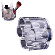 JACKY Clear Acrylic Shaped Cosmetic Lipstick Brush Holder Makeup Case