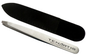 Straight Hair Tweezers Stainless Steel with Leather Case - Tenartis Made in Italy