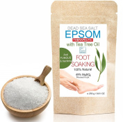 Tea Tree Epsom & Dead Sea Salt Antigungal Antibacteria Foot Soak 250 g ● Resealable stand-up pouch ●Relaxing Foot Bath ● , SPA and At-Home Care Soaking Pleasure ● A pure, time-tested mineral ● Health, Beauty , Fitness & Wellness by bleumarine Bretania ..